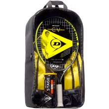 KIDS PACKAGE DUNLOP CV TEAM 23 (RACKET JUNIOR 23 + RUGZAK + TUBE VAN 3 STAGE 2 ORANGE BALLEN)