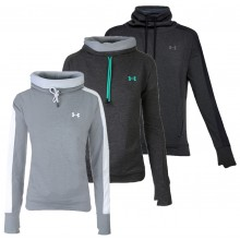 UNDER ARMOUR DAMES FEATHERWEIGHT FLEECE FUNNEL SWEATER