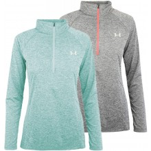 UNDER ARMOUR DAMES T-SHIRT TWIST MET LANGE MOUWEN EN 1/2 RITS