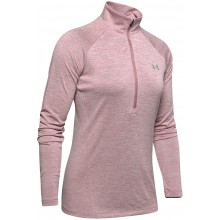 UNDER ARMOUR DAMES TWIST T-SHIRT MET LANGE MOUWEN EN 1/2 RITS