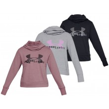 UNDER ARMOUR DAMES COTTON FLEECE LOGO SWEATER