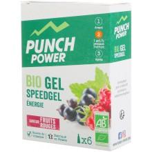 PUNCH POWER SPEEDGEL DOOS VAN 6 GELS - SMAAK MET ROOD FRUIT