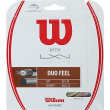 WILSON DUO FEEL TENNISSNAREN: LUXILON ELEMENT & WILSON NXT 1.25 (12.20 METER)