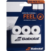 DUO PACK BABOLAT : SYNTEC PRO GRIP + 3 VS ORIGINAL OVERGRIPS