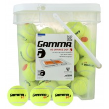 GAMMA ORANGE DOT STAGE 2 TENNISBALLEN (EMMER MET 48 BALLEN)