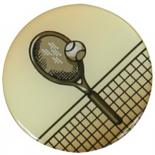 PASTILLES MEDAILLE TENNIS (EPOXY - 25MM)