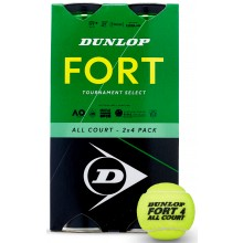 DUNLOP FORT TOURNAMENT SELECT BIPACK VAN 4 TENNISBALLEN