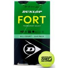 DUNLOP FORT TOURNAMENT SELECT BIPACK VAN 4 TENNISBALLEN