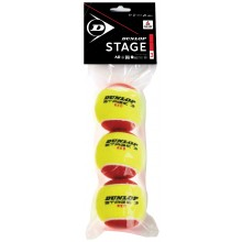 DUNLOP MINI TENNIS STAGE 3 - 3 BALLEN