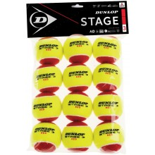 DUNLOP MINI TENNIS STAGE 3 (ZAK MET 12 TENNISBALLEN)
