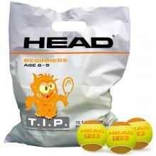 HEAD TIP ORANJE (1x ZAK MET 72 BALLEN)