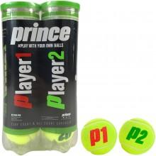 PRINCE NX TOUR PRO (PLAYER 1 & PLAYER 2) BIPACK VAN 4 BALLEN