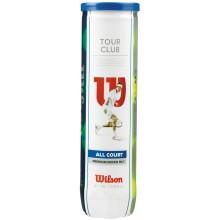 WILSON TOUR CLUB TENNISBALLEN (TUBE MET 4 BALLEN)