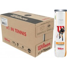 WILSON TOUR PRACTICE TENNISBALLEN (KARTON 18X TUBE 4 BALLEN)