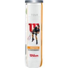 WILSON TOUR PRACTICE TENNISBALLEN (TUBE 4 BALLEN)