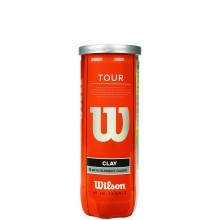 WILSON TOUR CLAY (TUBE met 3 BALLEN)