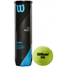 WILSON TOUR PREMIER TENNISBALLEN (TUBE VAN 4 BALLEN)