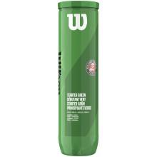 WILSON ROLAND GARROS STARTER GREEN TENNISBALLEN (4st)