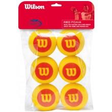 WILSON STARTER FOAM TENNISBALLEN (ZAK MET 6 BALLEN)