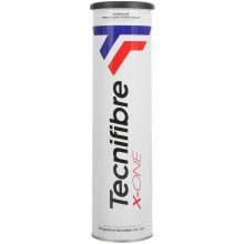 TECNIFIBRE X-ONE TENNISBALLEN (TUBE VAN 4 BALLEN)