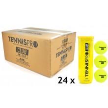 TENNISPRO TENNISBAL CLUB (KARTON 24X TUBE 3 BALLEN)