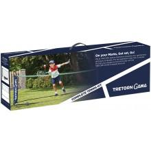 TRETORN COMPLETE SET : TENNIS/BADMINTON  NET+ 2 JUNIOR 21 TENNISRACKETS + 2 RODE TENNISBALLEN