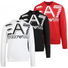 EA7 TRAINING FUNDAMENTAL SPORTY LOGO SWEATER