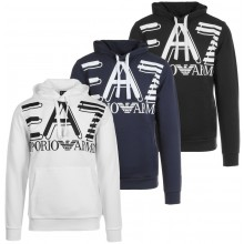 EA7 TRAINING FUNDAMENTAL SPORTY LOGO HOODIE
