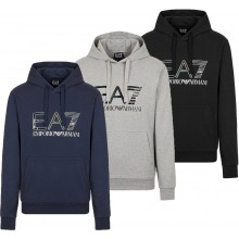 EA7 TRAIN LOGO HOLOGRAPHIC SWEATER