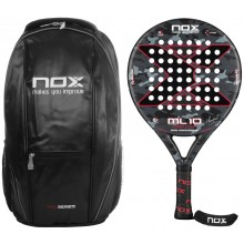 NOX ML10 10th ANIVERSARY PADELRACKET + RUGZAK + ACCESSOIRES