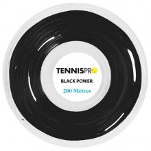TENNISPRO DW BLACK POWER TENNISSNAAR (ROL 200 M)