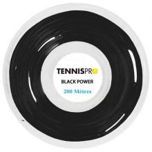 TENNISPRO DW BLACK POWER TENNISSNAAR (ROL 200 M)