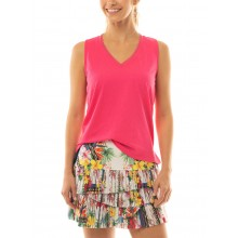 LUCKY IN LOVE HI HOT TROPIC PLEATED SCALLOP ROK