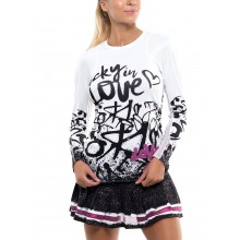 T-SHIRT LUCKY IN LOVE FEMME LOVE TAG RIB MANCHES LONGUES