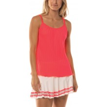 LUCKY IN LOVE PLEATED STRAPPY TANKTOP