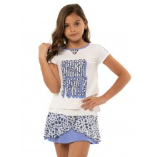 LUCKY IN LOVE JUNIOR GRRRL POWR T-SHIRT MEISJES
