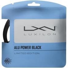LUXILON BIG BANGER ALU POWER BLACK TENNISSNAAR (12 METER)