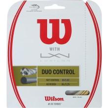 CORDAGE WILSON DUO CONTROL: LUXILON 4G & WILSON NXT CONTROL 1.25 (12.20 METRES)