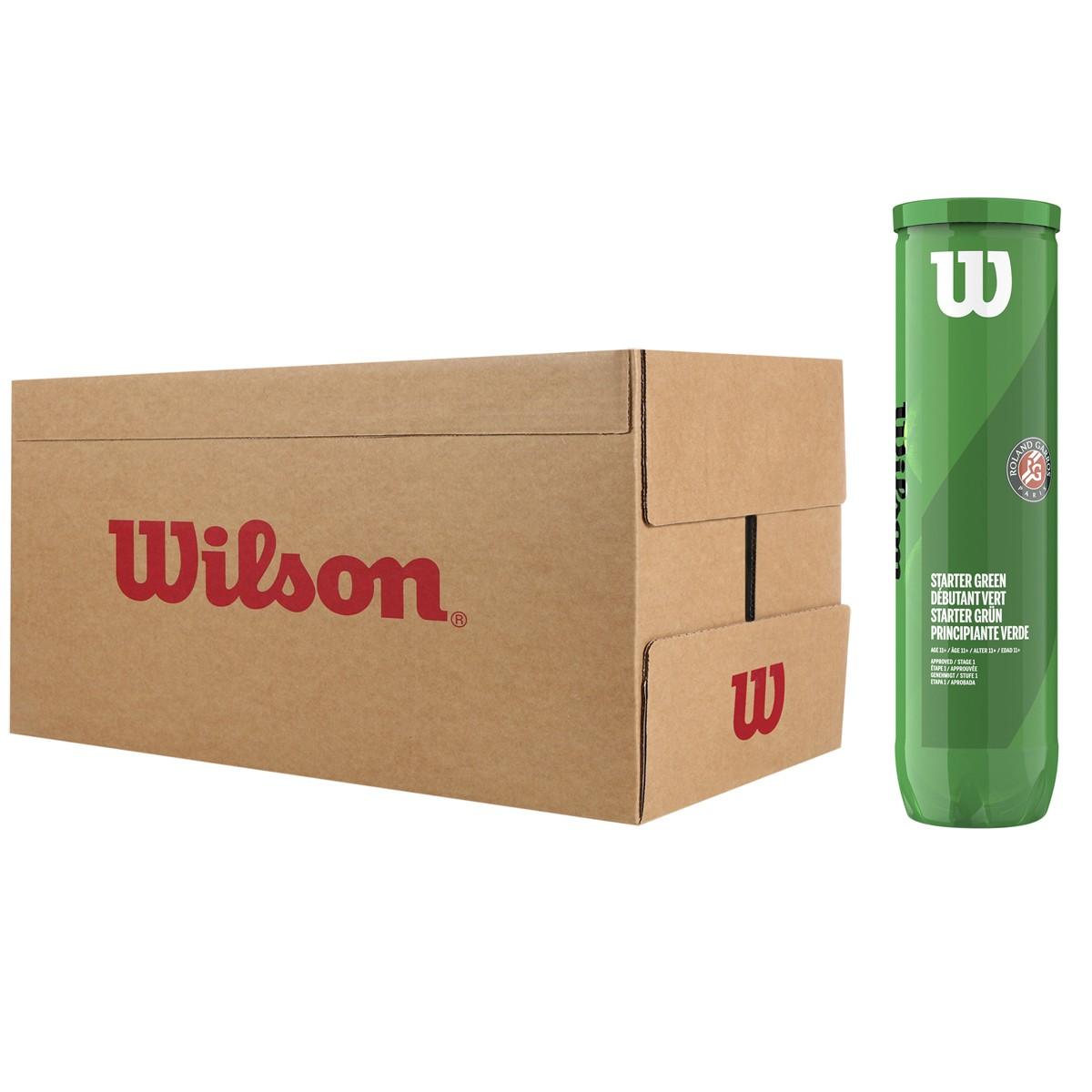 WILSON ROLAND GARROS STARTER GREEN TENNISBALLEN (KARTON MET 18 TUBES VAN 4 BALLEN)